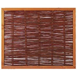 FAKO Weidengeflechtzaun mit Rahmen 120 x 100