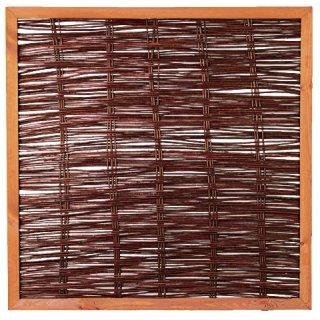 FAKO Weidengeflechtzaun mit Rahmen 120 x 120