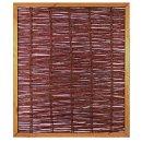 FAKO Weidengeflechtzaun mit Rahmen 120 x 140
