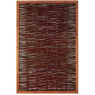 FAKO Weidengeflechtzaun mit Rahmen 120 x 180