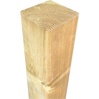 Kantholzpfosten, Kopf gerade