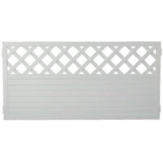 LIGHTLINE KS-Zaun Ranki, weiß, 180 x 90 cm