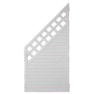 LIGHTLINE KS-Zaun Ranki ECKE, weiß 90 x 180