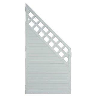 LIGHTLINE KS-Zaun Ranki ECKE Silbergrau 90 x 180