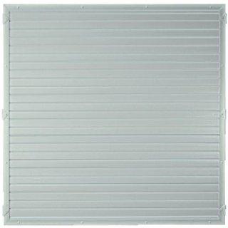 LIGHTLINE KS-Zaunelement, Silbergrau 180 x 180 cm