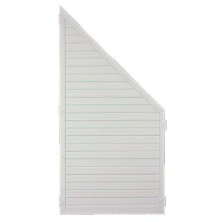 LIGHTLINE KS-Zaunelement ECKE, weiß, 90 x 180