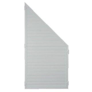 LIGHTLINE KS-Zaunelement ECKE, Silbergrau, 90 x 180