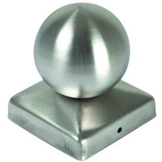 Pfostenabdeckung aus Metall, Kugel