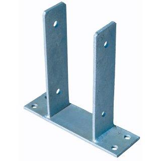 Pfostenträger 9 x 9 cm feuerverzinkt, für Pfosten 9 x 9 cm mit seitl. Lasche